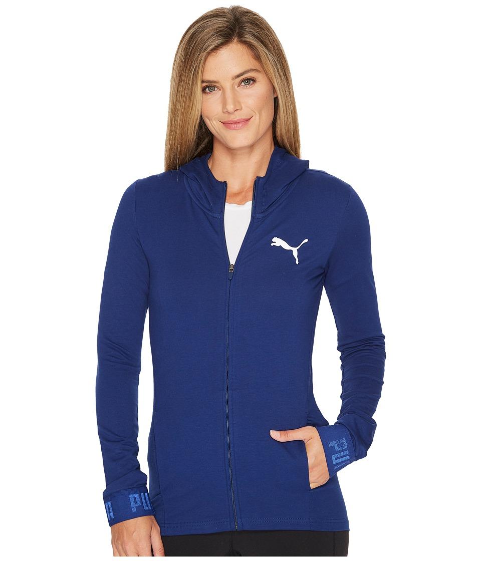 PUMA Urban Sports Full Zip Hoodie (Blue Depths) Women