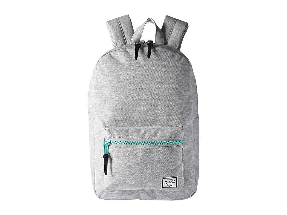 Herschel Supply Co. - Settlement Medium (Light Grey Crosshatch/Lucite Green Zip) Backpack Bags