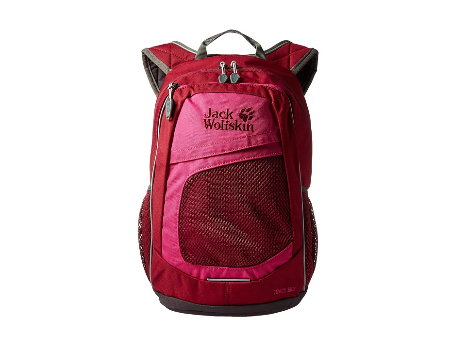 Jack Wolfskin - Track Jack (Kids) (Dark Ruby) Backpack Bags