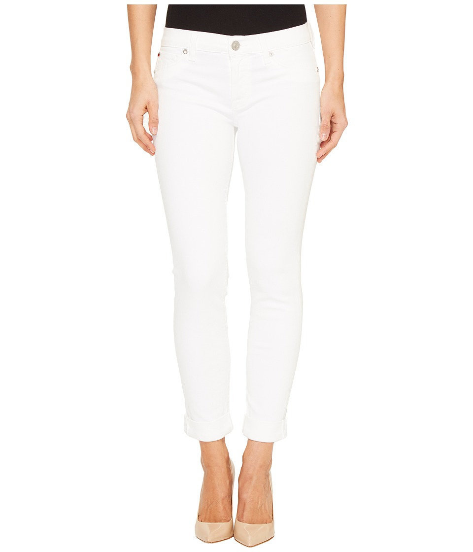 Hudson Tally Cropped Skinny Five-Pocket Jeans in White (White) Women