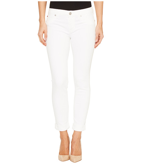 Hudson Tally Cropped Skinny Five-Pocket Jeans in White
