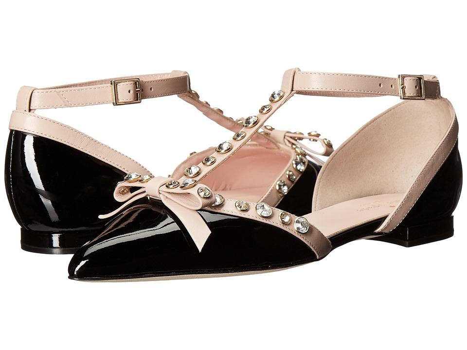 Kate Spade New York Becca (Black Patent/Pale Pink Nappa) Women