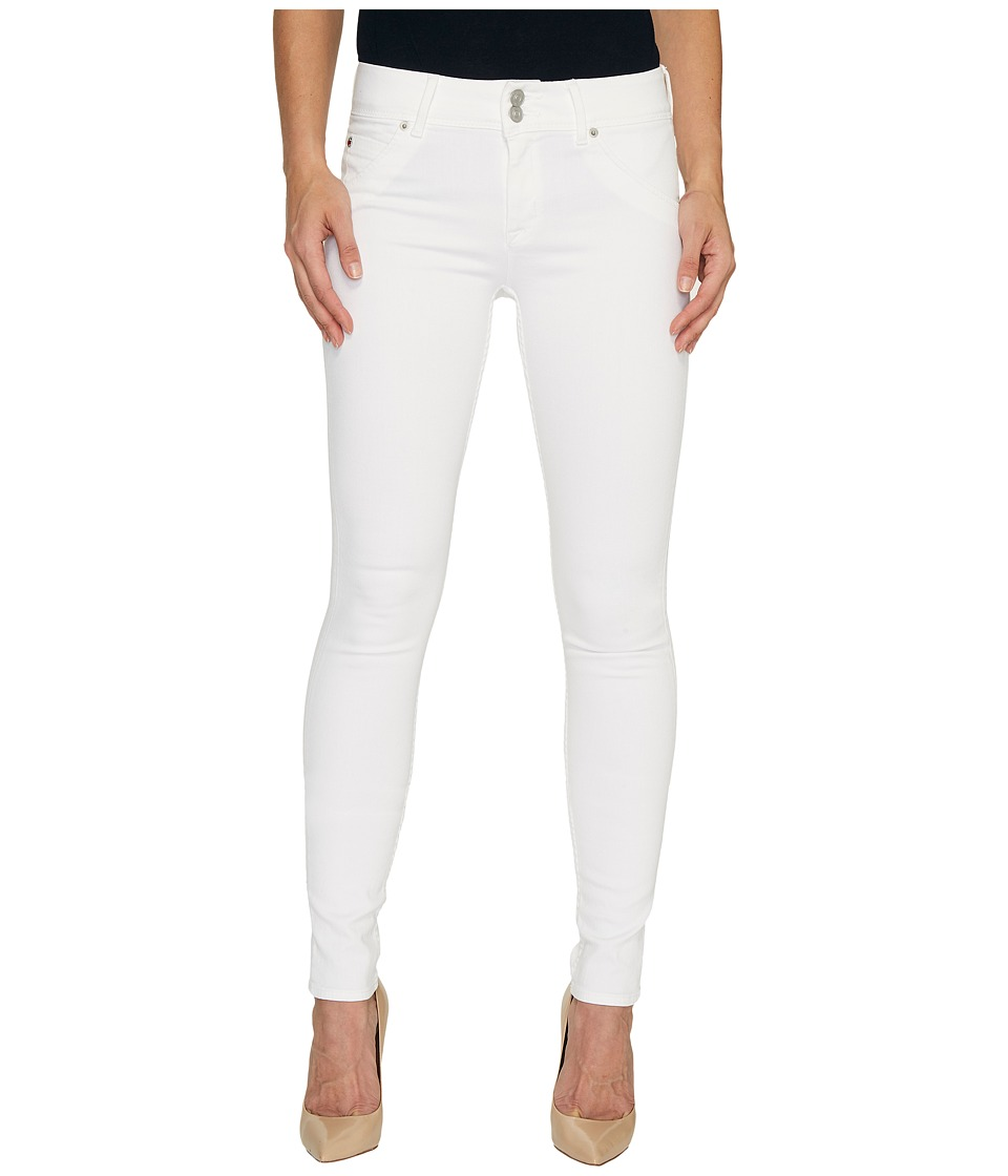 Hudson Collin Mid-Rise Skinny Flap Pocket Jeans in White (White) Women