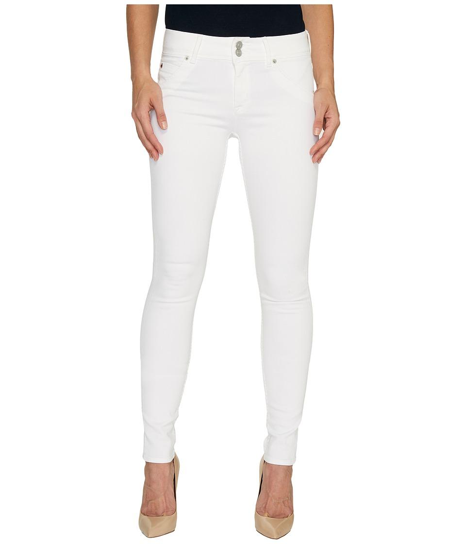 Hudson Collin Mid-Rise Skinny Flap Pocket Jeans in White (White) Women