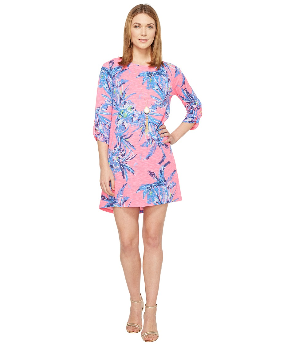 Lilly Pulitzer Surfcrest Dress (Tiki Pink Out on A Limb) ...