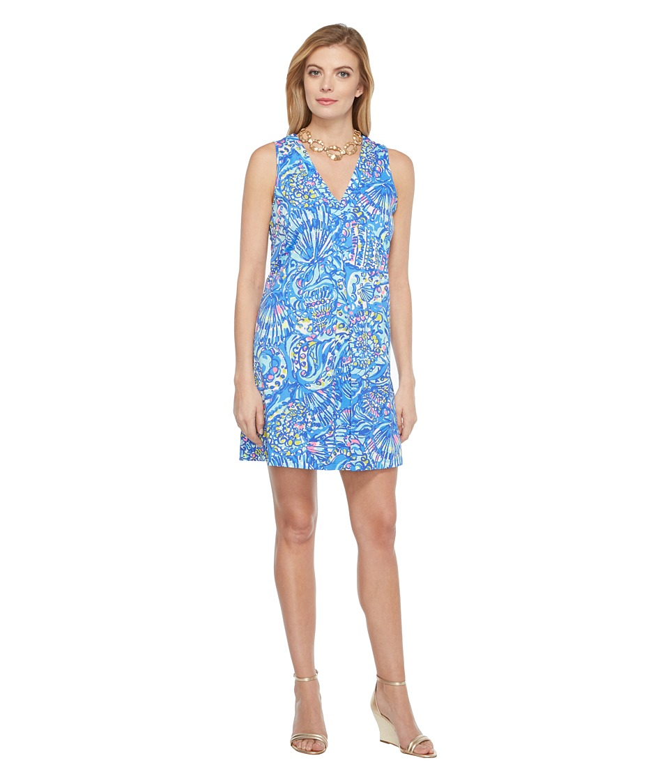 Lilly Pulitzer Amina Dress (Brilliant Blue Ceviche Reduced) Women