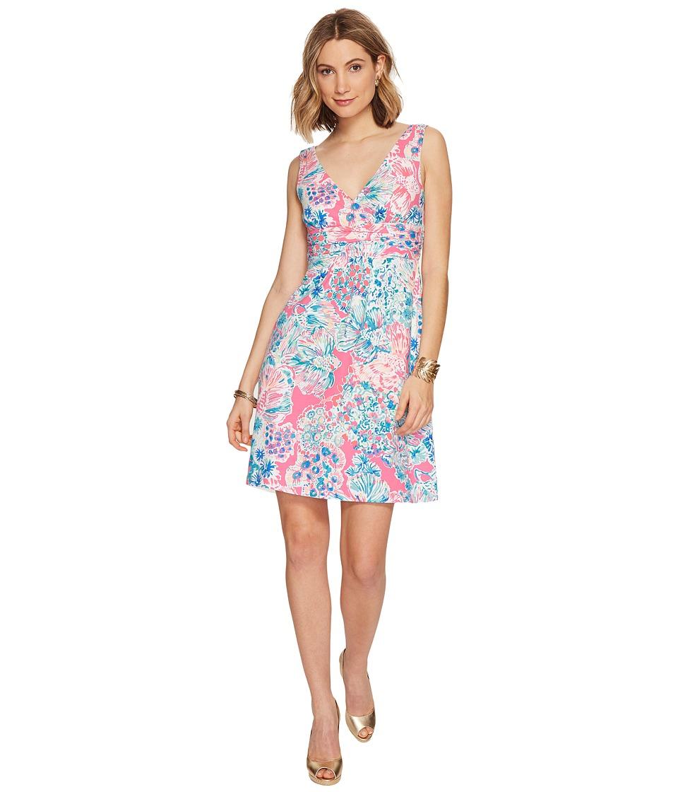 Lilly Pulitzer Short Sloane Dress (Tiki Pink Gypsea Pink)...