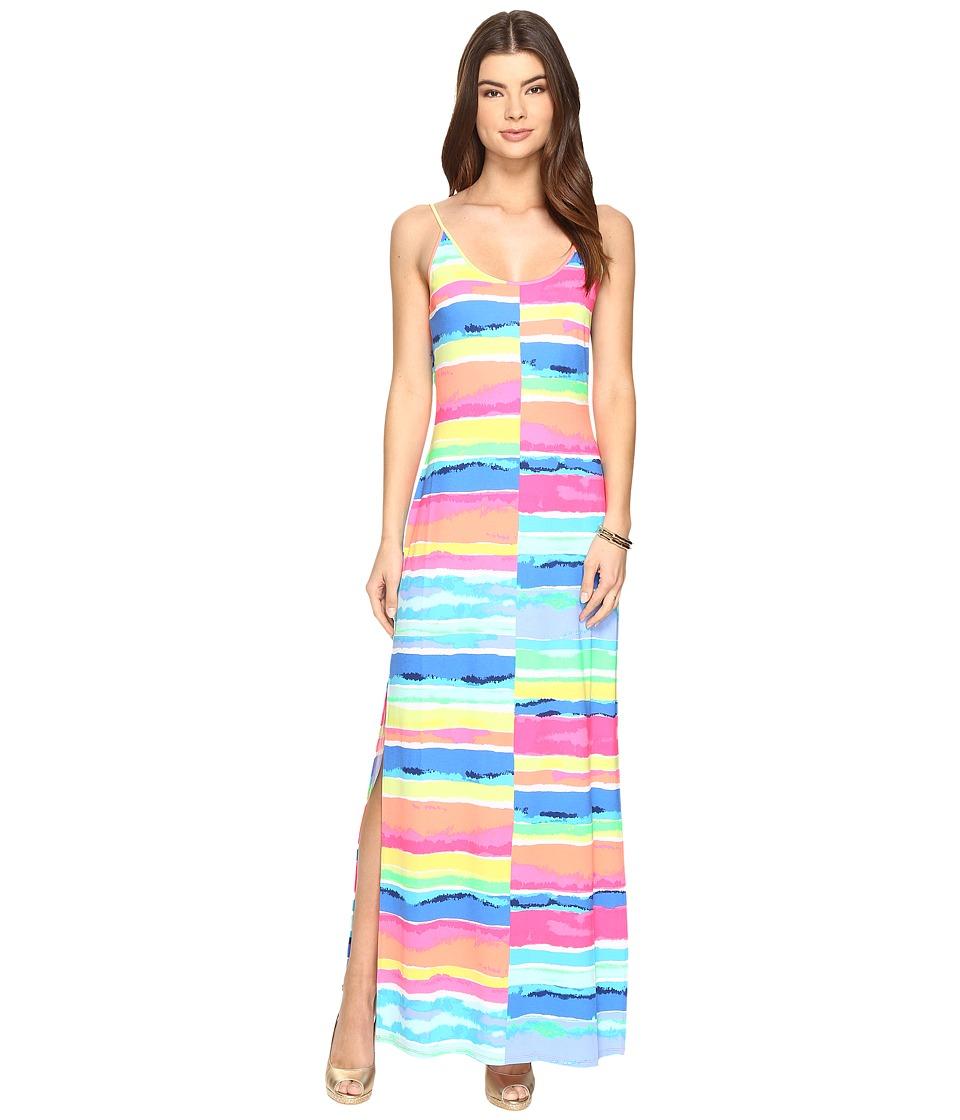 Lilly Pulitzer Gigi Maxi Beach Dress (Multi Blurred Stripes Split) Women