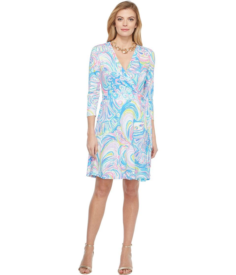 Lilly Pulitzer Emilia Wrap Dress (Multi Gillty Pleasure) Women