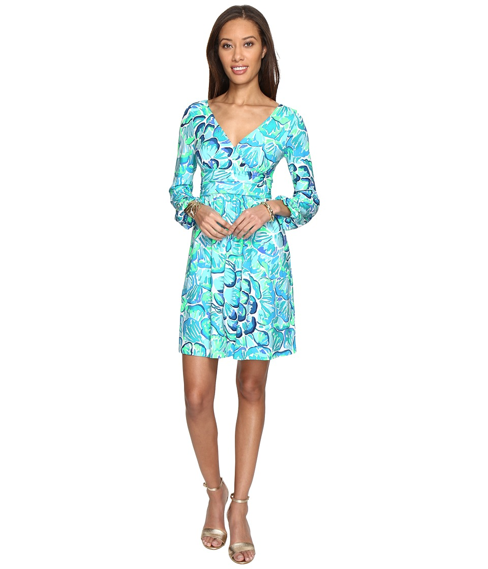 Lilly Pulitzer Fleur Dress (Agate Green Lazy River) Women
