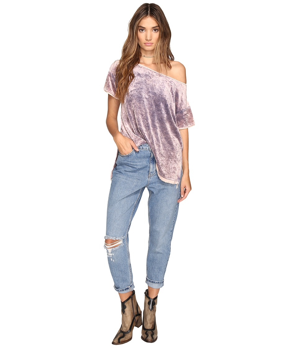 Free People Doran Washed Tee (Purple) Women