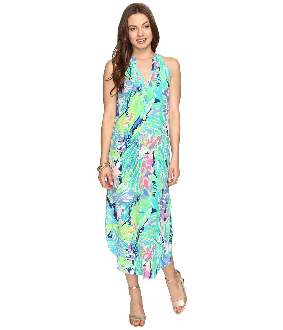 Lilly Pulitzer Bailey Silk Midi Dress (Multi Purrfect) Women