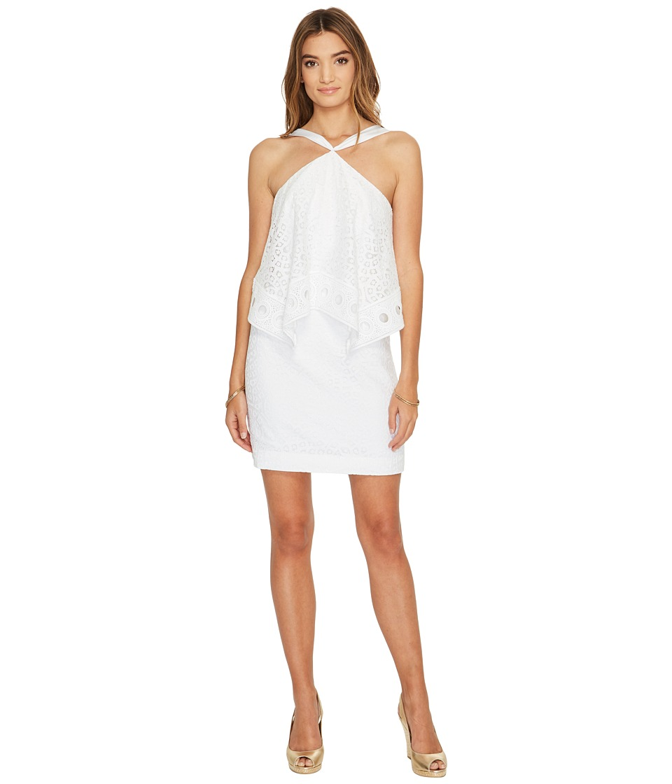 Lilly Pulitzer Pearson Dress (Resort White Oyster Shell Lace) Women