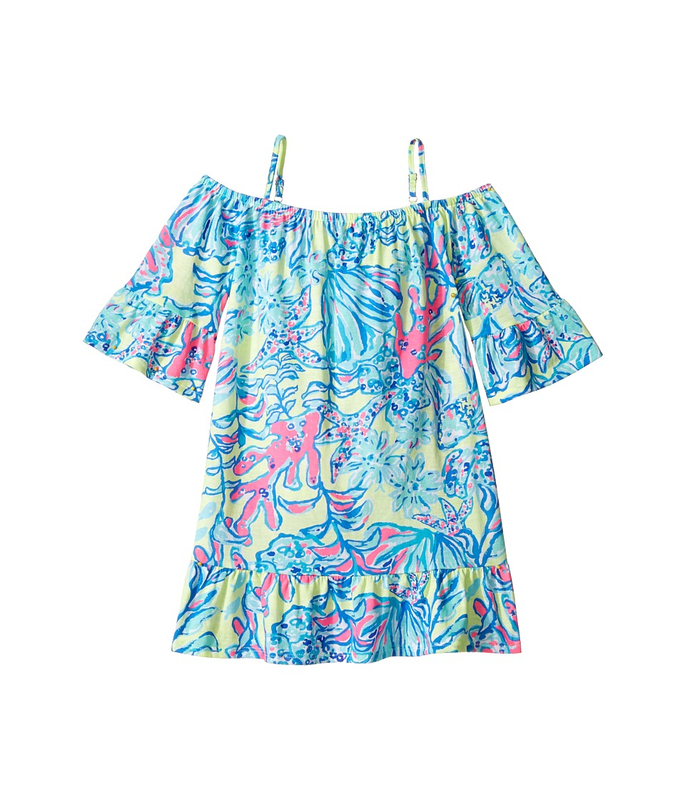 Lilly Pulitzer Kids Jaci Dress (Toddler/Little Kids/Big Kids) (Lemon Drop Swim Up) Girl