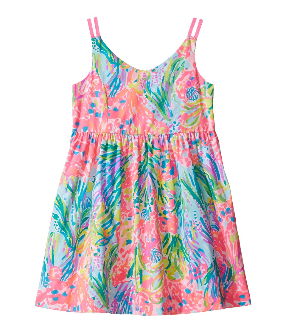 Lilly Pulitzer Kids Rue Dress (Toddler/Little Kids/Big Kids) (Multi Fan Sea Pants) Girl