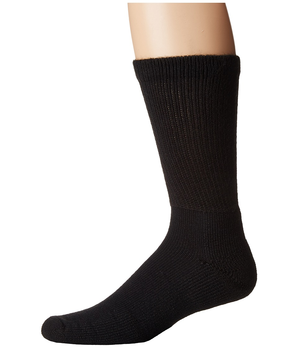 Thorlos - Health Padds Crew Single Pair (Black) Mens Crew Cut Socks Shoes