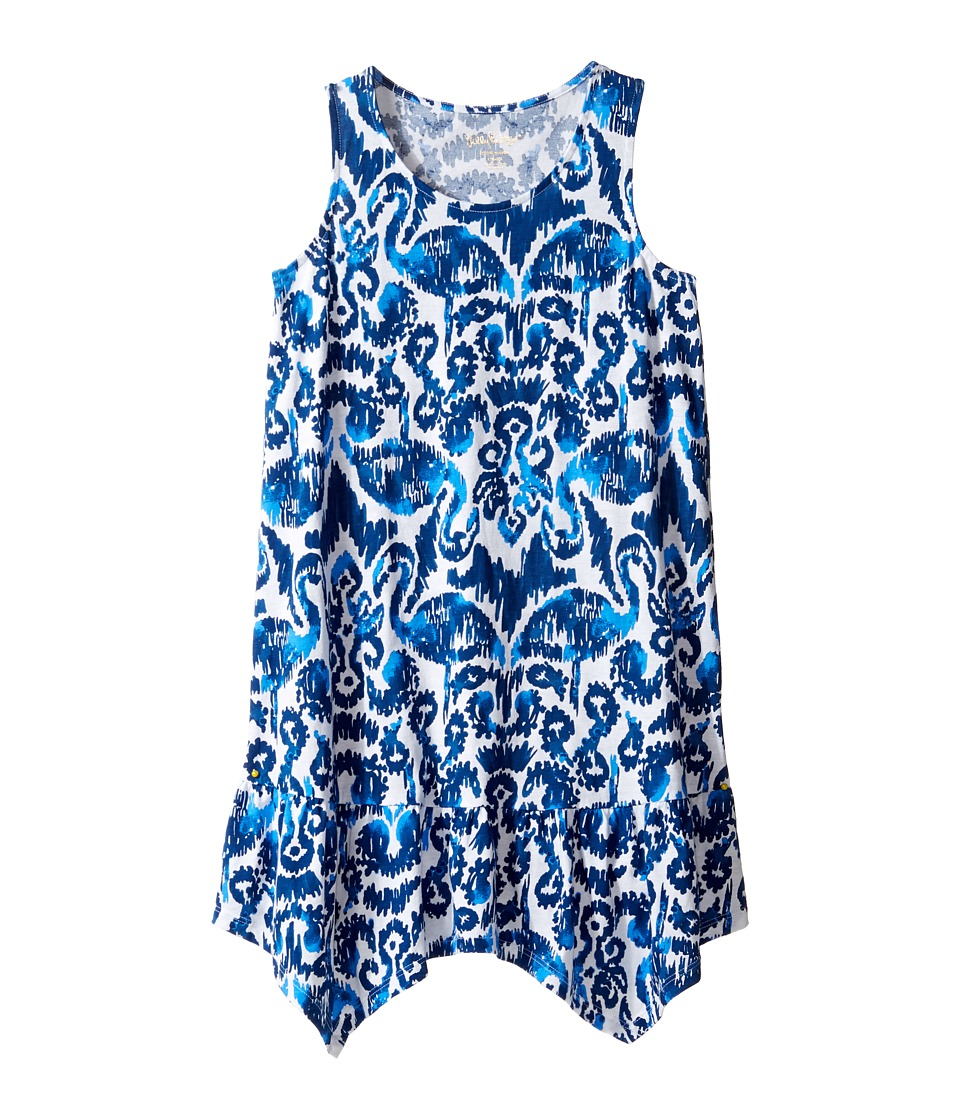 Lilly Pulitzer Kids Mini Hampton Dress (Toddler/Little Kids/Big Kids) (Resort Navy Beach Bathers) Girl