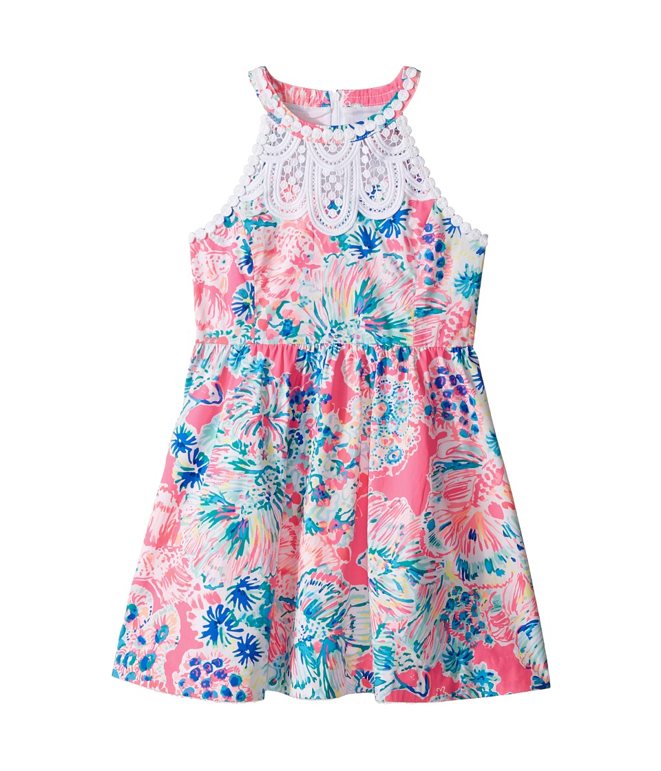 Lilly Pulitzer Kids Kinley Dress (Toddler/Little Kids/Big Kids) (Tiki Pink Gypsea Pink) Girl