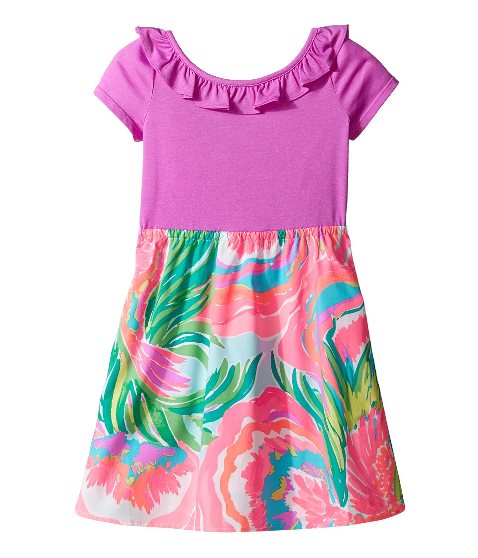 Lilly Pulitzer Kids Brit Dress (Toddler/Little Kids/Big Kids) (Serene Blue Paradise Bound) Girl