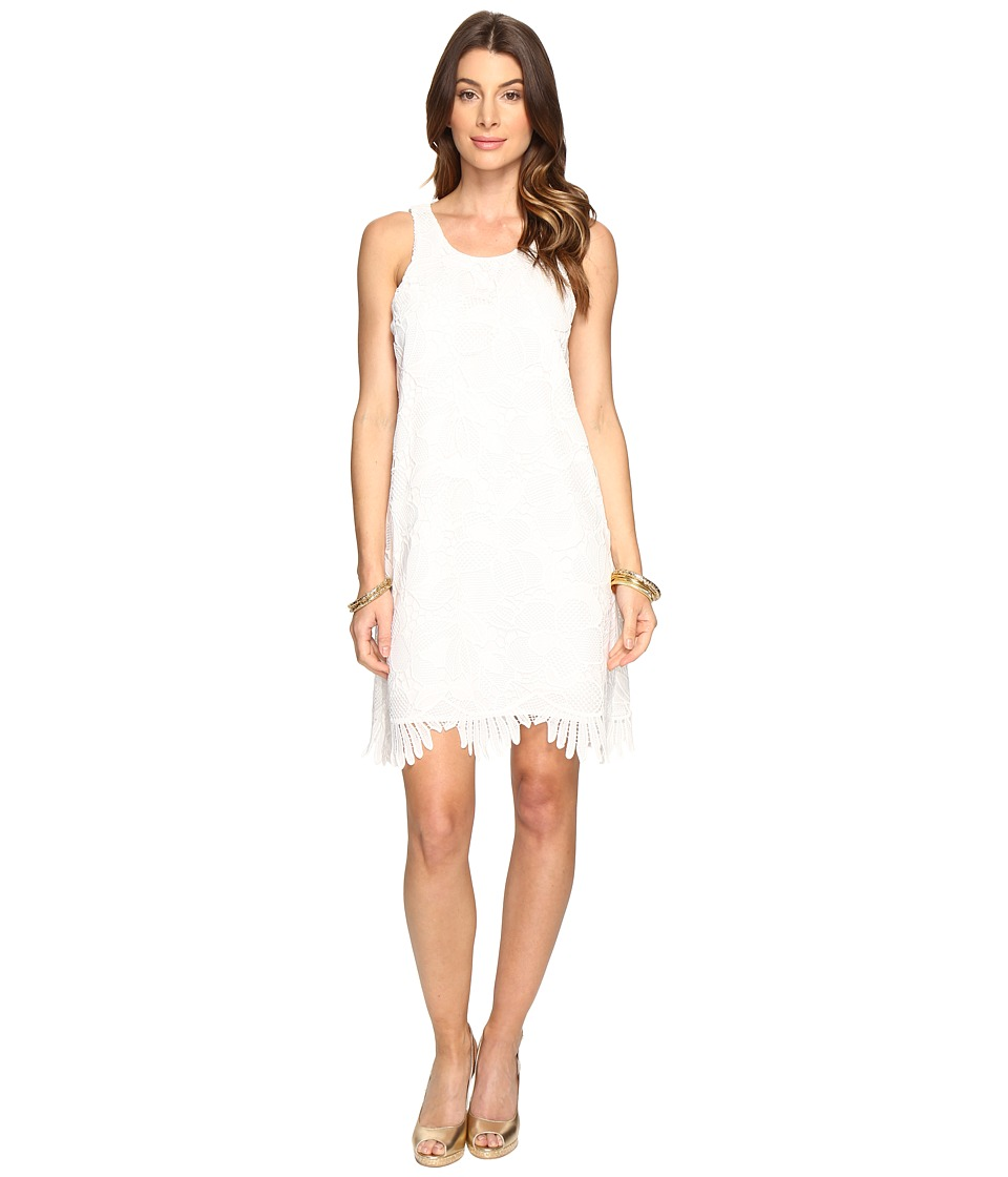 Lilly Pulitzer Marlissa Shift (Resort White Jumbo Floral Scallop Lace) Women
