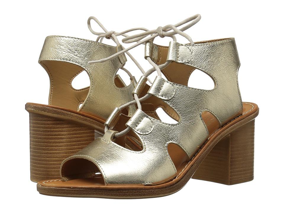 Bella Vita Bre-Italy Ghillie Tie Sandals  Gold 8.5 W, Gold -  ADULT