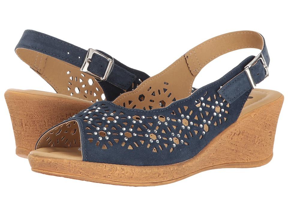 Spring Step Saibara (Navy) Women's Shoes