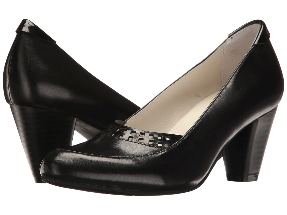 1930s Style Shoes Spring Step - Navis Black Womens Shoes $159.99 AT vintagedancer.com