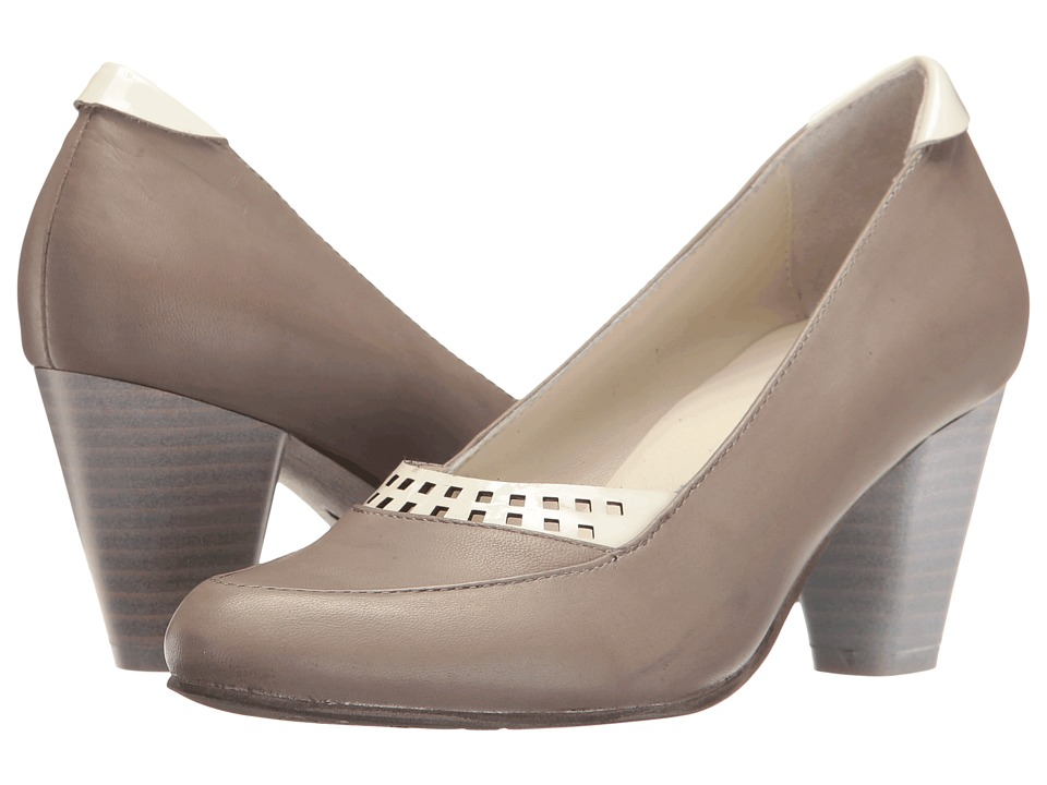 1940s Style Shoes Spring Step - Navis Grey Womens Shoes $159.99 AT vintagedancer.com