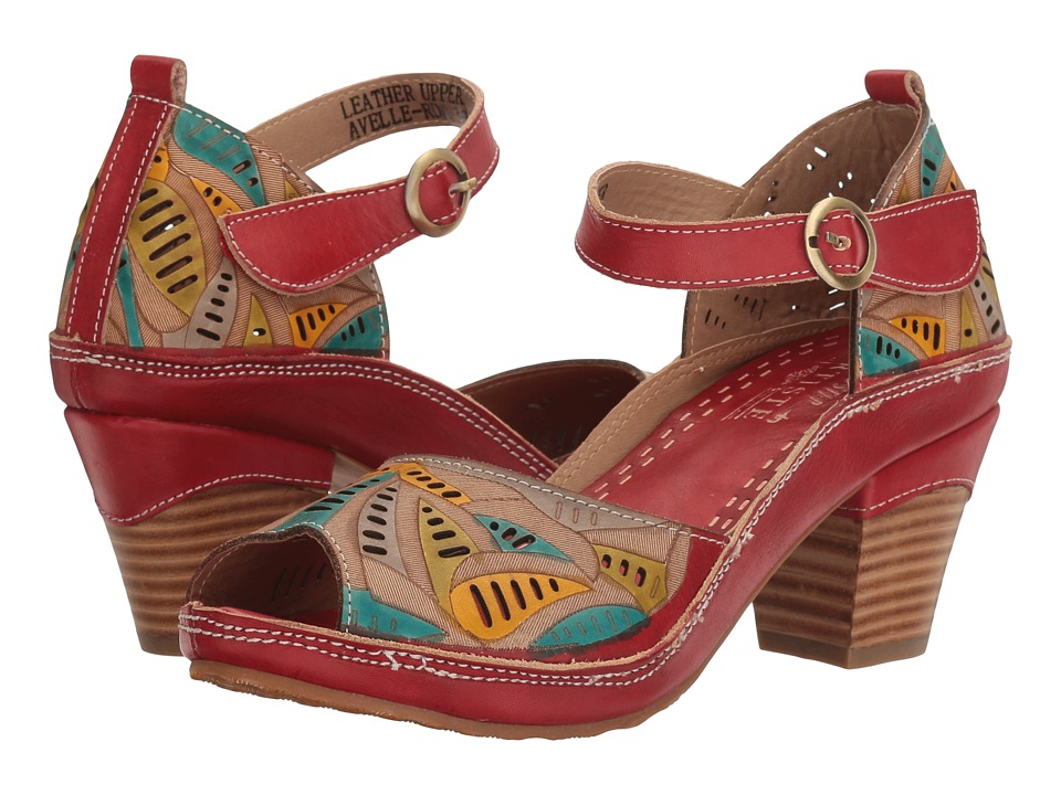 L'Artiste by Spring Step Avelle (Red Multi) Women's Shoes