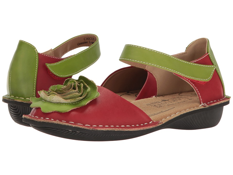 L'Artiste by Spring Step Caicos (Red Multi) Women's Shoes