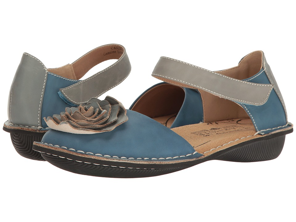 L'Artiste by Spring Step Caicos (Blue Multi) Women's Shoes