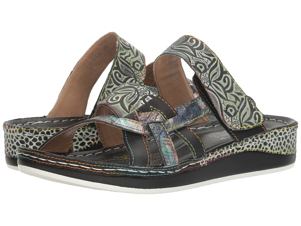 L'Artiste by Spring Step Caiman (Black Multi) Women's Shoes
