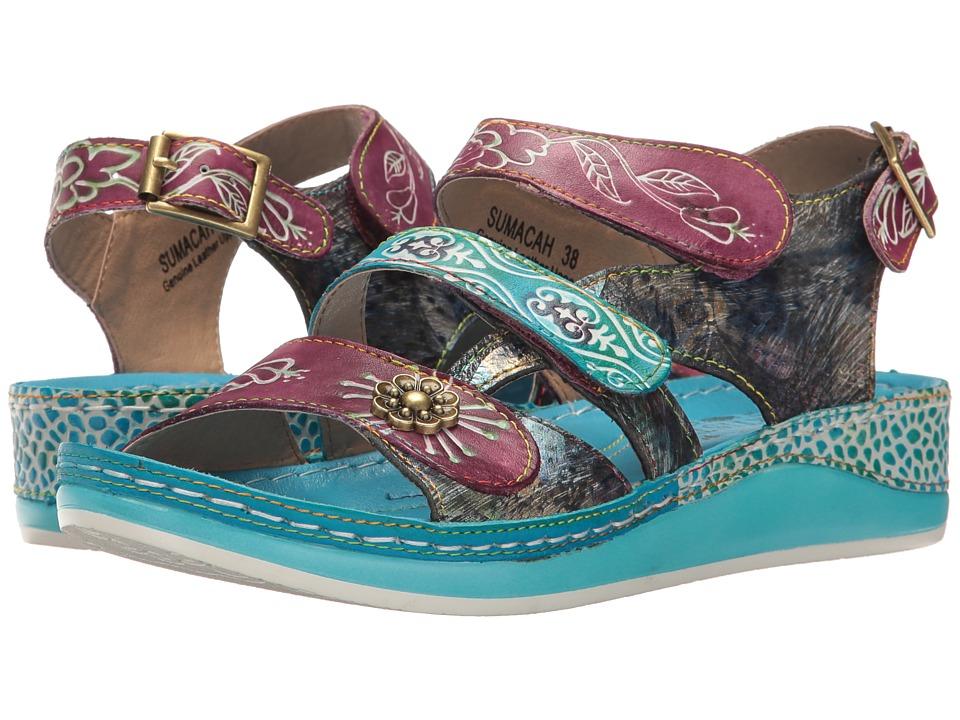 L'Artiste by Spring Step Sumacah (Aqua) Women's Shoes