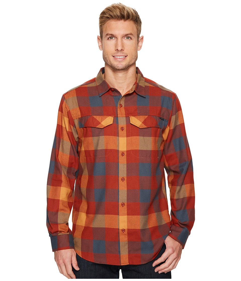 Columbia - Silver Ridge Flannel Long Sleeve Shirt (Rusty Graphic Check) Mens Long Sleeve Button Up