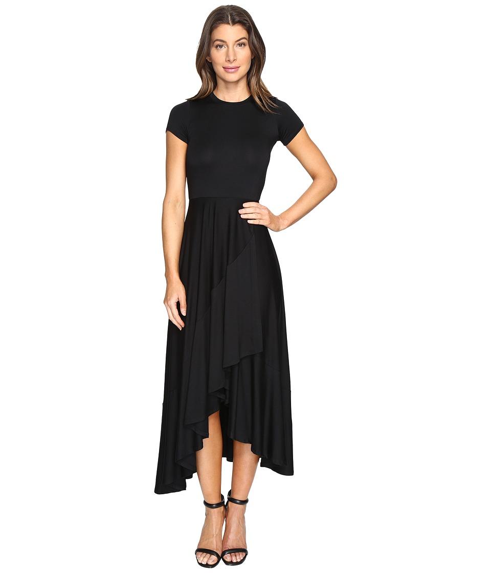 Rachel Pally - Ruffle Wrap Dress (Black) Womens Dress