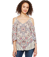 Hale Bob - Beach Belle Rayon Dot Woven Cold Shoulder Top
