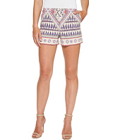 Hale Bob - Beach Belle Stretch Rayon Sateen Shorts with Pockets/Zipper