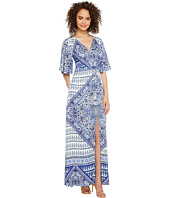 Hale Bob - Beach Belle Rayon Stretch Satin Woven Maxi Dress