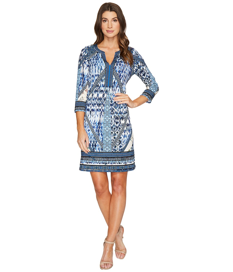 Hale Bob A Match Made in Heaven Microfiber Jersey Dress (Blue) Women