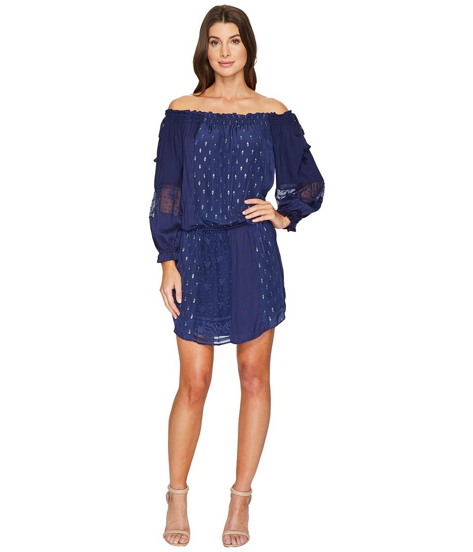 Hale Bob - Sheer Genius Mix Rayon Satin/Silk Lurex Dot Dress