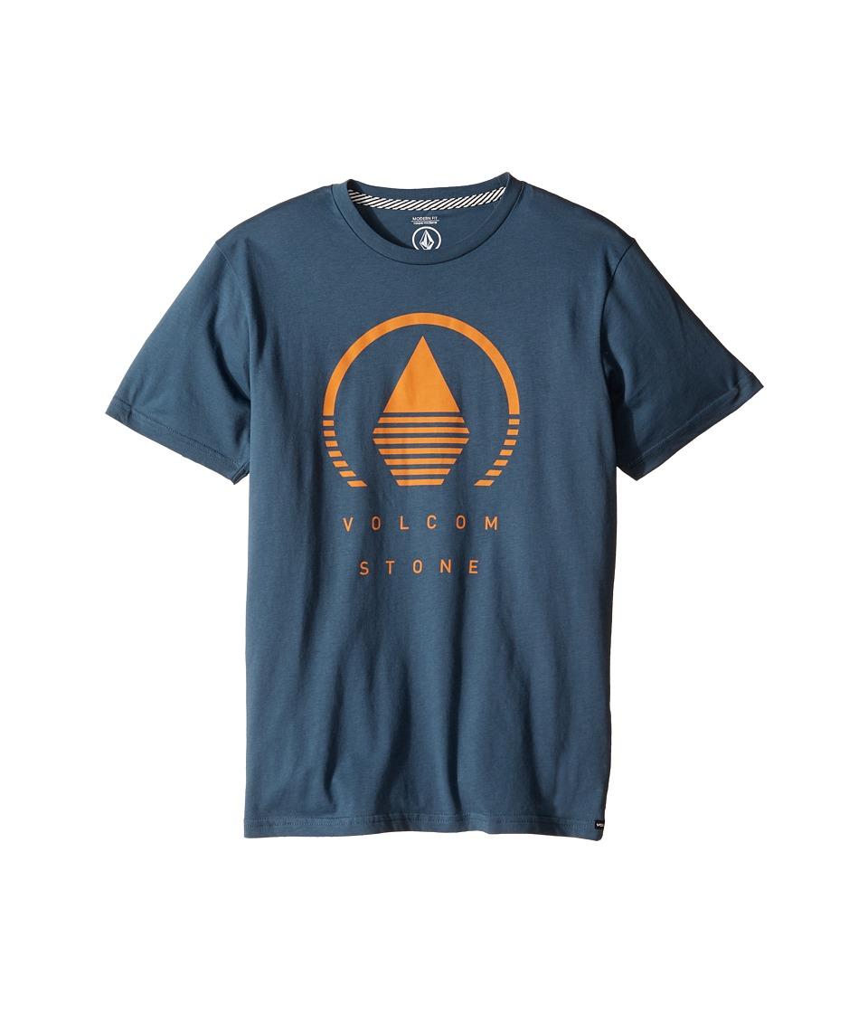 Volcom Kids Horizon Short Sleeve Tee (Big Kids) (Airforce Blue) Boy