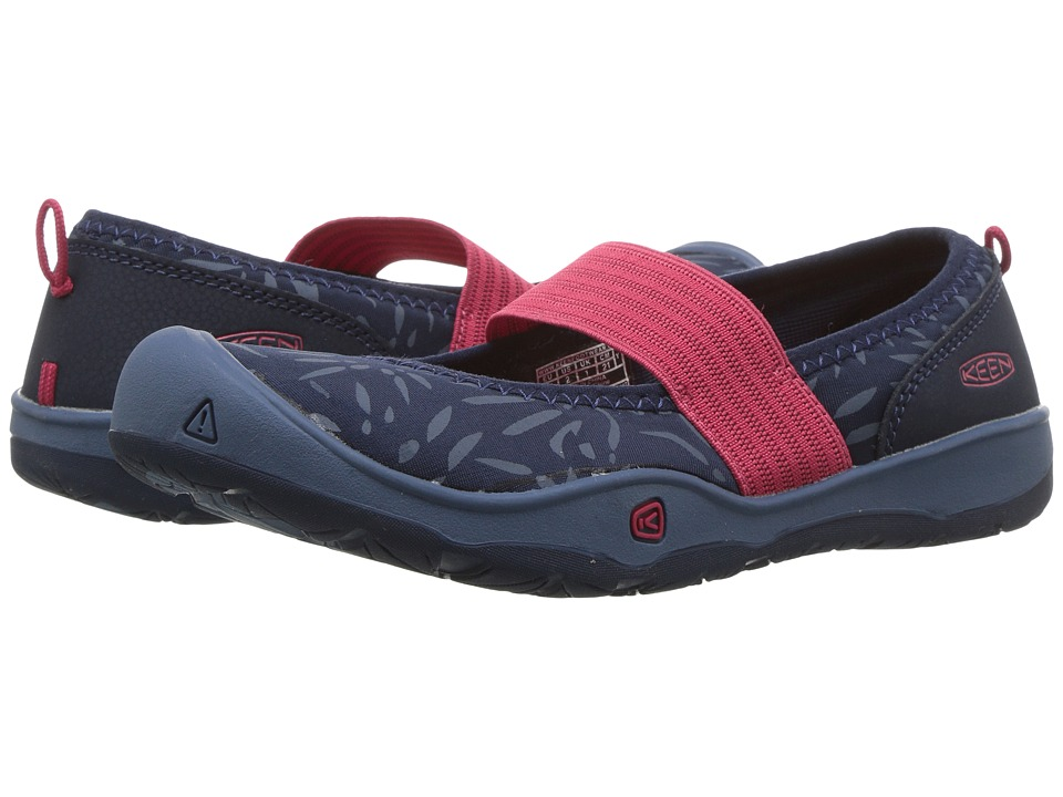 Keen Kids Moxie Gore Flat (Little Kid/Big Kid) (Blues/Raspberry Wine) Girls Shoes