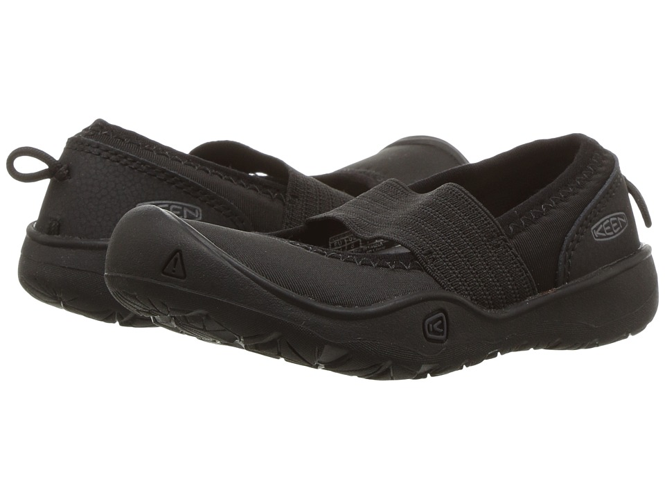 Keen Kids Moxie Gore Flat (Toddler/Little Kid) (Black/Magnet) Girls Shoes