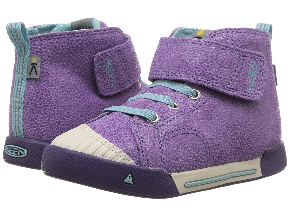 Keen Kids Encanto Scout High Top (Toddler/Little Kid) (Purple Plumeria/Aqua Haze) Girls Shoes