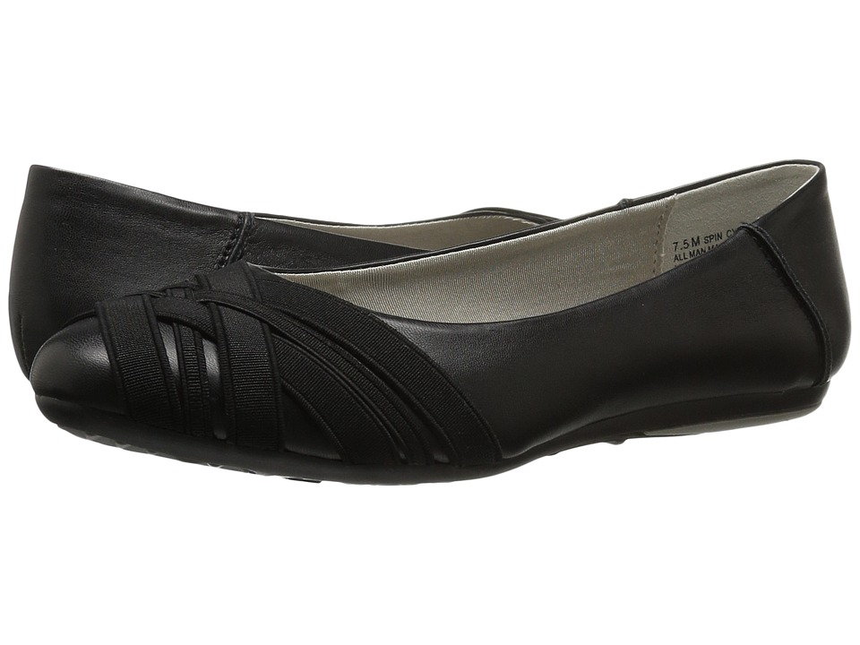 Aerosoles Spin Cycle (Black) Women's Flat Shoes