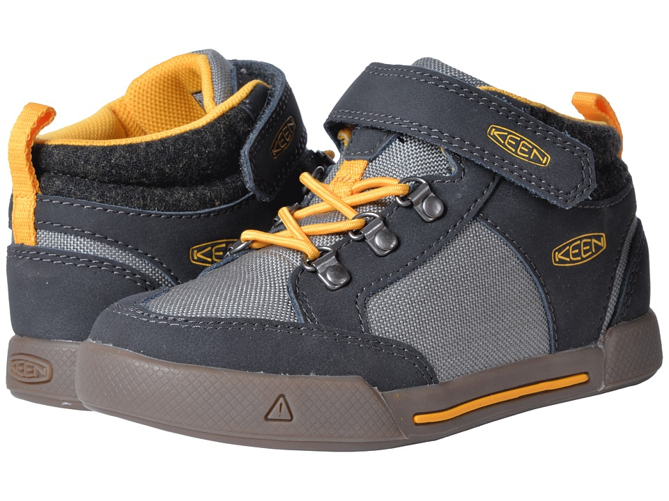 Keen Kids Encanto Wesley II High Top (Toddler/Little Kid) (Raven/Steel Grey) Boy's Shoes