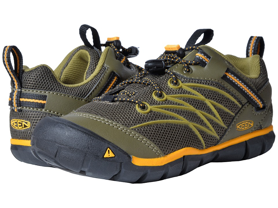 Keen Kids Chandler CNX (Little Kid/Big Kid) (Dark Olive/Citrus) Boys Shoes