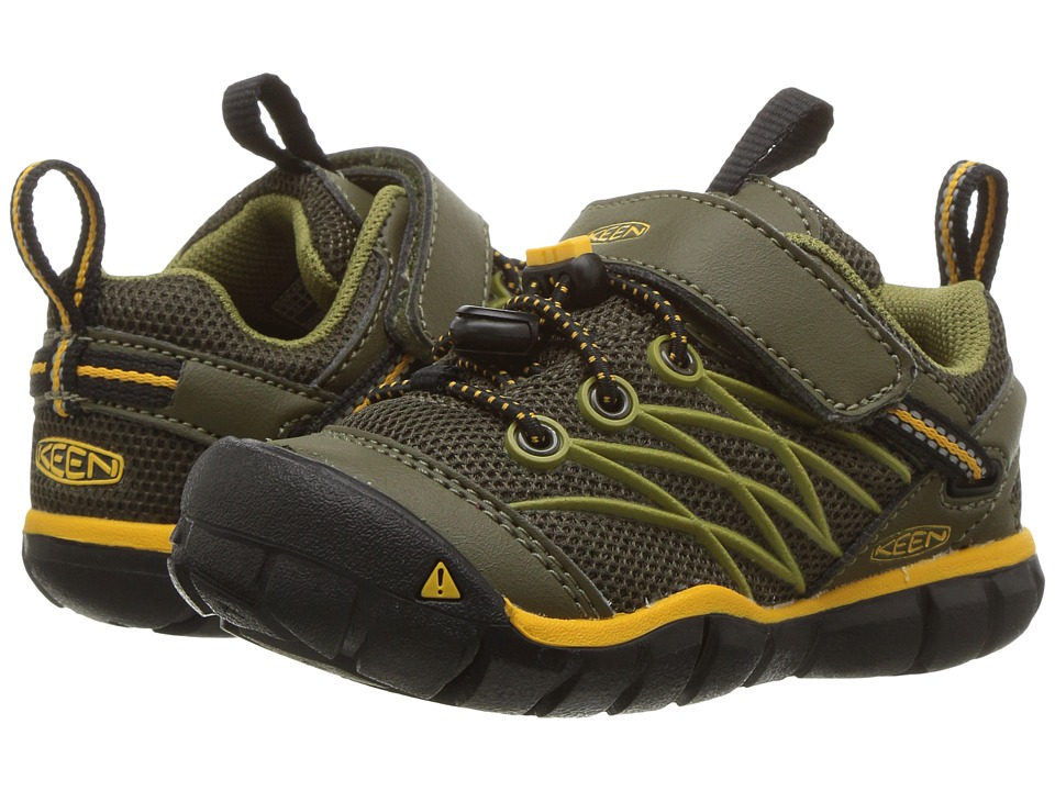 Keen Kids Chandler CNX (Toddler/Little Kid) (Dark Olive/Citrus) Boys Shoes