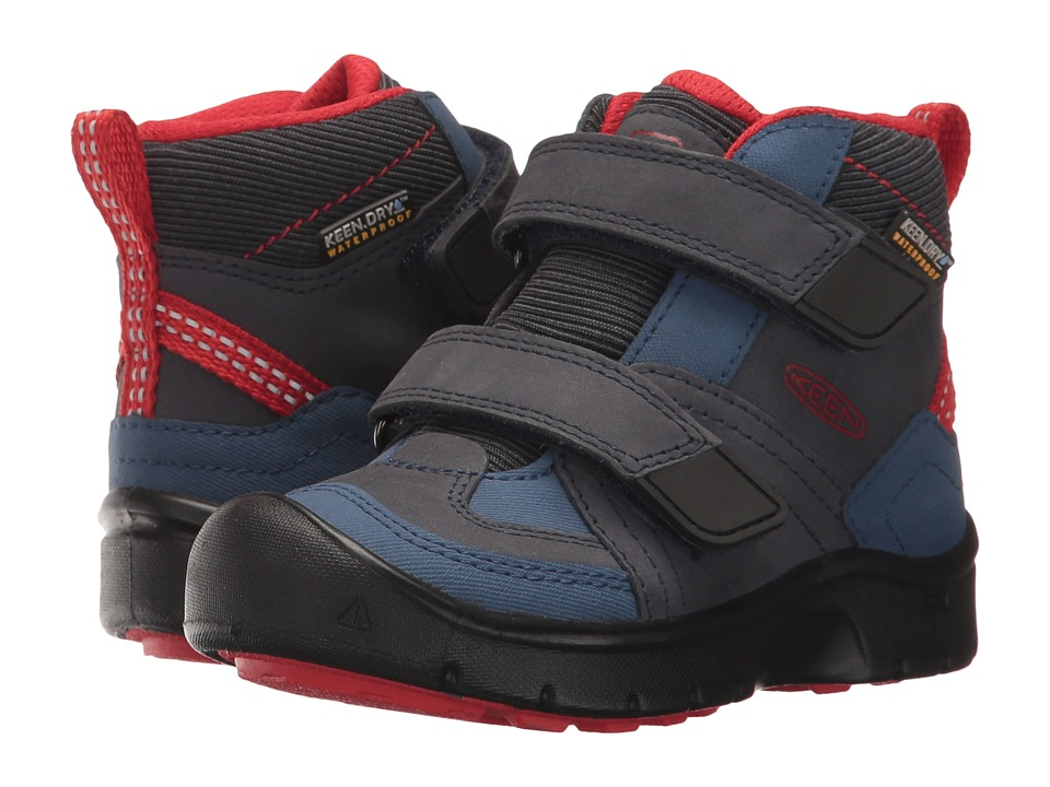 Keen Kids Hikeport Mid Strap WP (Toddler/Little Kid) (Dress Blues/Blue Nights) Boy's Shoes