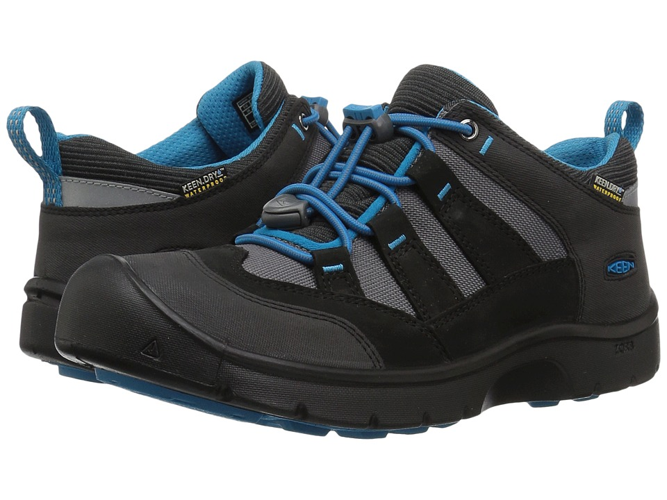 Keen Kids Hikeport WP (Little Kid/Big Kid) (Black/Blue Jewel) Boy's Shoes